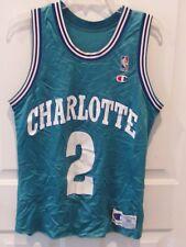 VTG RARE LARRY JOHNSON CHARLOTTE HORNETS BASKETBALL JERSEY MEN'S SIZE 36 NBA