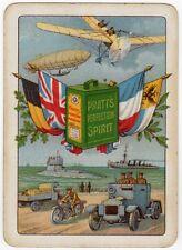Playing Cards 1 Swap Card Old Wide PRATTS MOTOR SPIRIT WW1 Tank Zeppelin Warship
