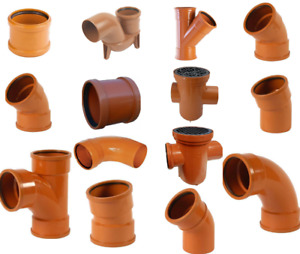 UNDERGROUND DRAINAGE, SOIL PIPE FITTINGS SOCKETS JUNCTIONS & BENDS GULLY,TRAP