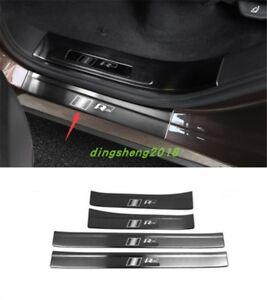 4PCS steel Car Outer Door Sill Scuff Plate Trim For Volkswagen Touareg 2011-2017