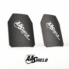 AA Shield Ballistic Light Weight Body Armor Hard Plate Lvl IIIA 3A 10x12Cut Pair