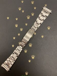 """Rolex Date Mens 19mm Oyster 7835 Stainless Steel Band """"361"""" Ends Ref: 1501"""