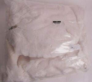 NIP Pottery Barn PB Teen Faux Fur large Beanbag slip cover, ivory polar bear