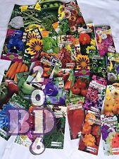 The real deal-un lot de graines-mixte fleurs et légumes - 7 packs-mystère