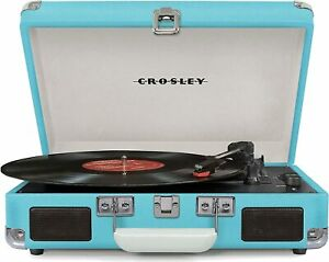 Crosley Cruizer Deluxe Portable Turntable Record Player w/ Bluetooth Speakers