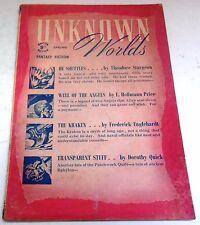 Unknown Worlds – UK Pulp – Spring 1948 – Vol.3 No.12 - Sturgeon, Hoffmann Price