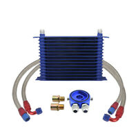 Engine Transmission Oil Cooler 15-Row 10AN With Filter Adapter Kit For Universal