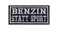 Benzin Statt Sport Patch Aufnäher Badge Biker Heavy Rocker Bügelbild Kutte Stick