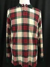 EUC Vintage 90s Ralph Lauren Polo XL XLarge Rugby Pullover Shirt Pony Plaid Red