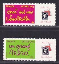 "FRANCE  N° 3760B & 3761B ** MNH, PERSONNALISE ""Passion"" ADHESIF"