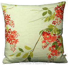 Harlequin Fiore Floral Fabric Scarlet Willow Sky Blue Cushion Pillow Cover