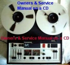 Tandberg 10X Reel To Reel Owners & Service Manuals Cd Free Same Day Shipping