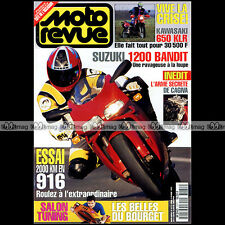 MOTO REVUE N°3171 KAWASAKI KLR 650 DUCATI 916 SUZUKI 1200 BANDIT COLOMER 1995