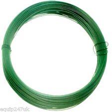 3 X Rollo De Recubierto Con Pvc Verde Alambre JARDÍN 15m X 1,5 Mm