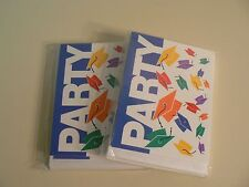 Hallmark Graduation Party Invitations 2 packages NEW White with PARTY on Front