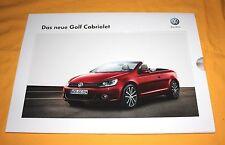 VW Golf Cabriolet 2011 Prospekt Brochure Depliant Catalogue Volkswagen Cabrio