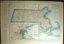 New Listing1921 Massachusetts State County Auto Road Highway Map