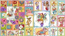 "Loralie Blossom 692 165 Panel 24"" x 44"" Cotton Fab"