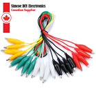 Alligator Clip Lead Wire Crocodile Cable 50cm For Testing 5 Colors 10-Pack #988