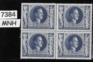 MNH Hitler block PF08 + PF22  ScB233 1943 Birthday / WWII Germany / Third Reich