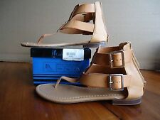 If Carrini Ankle Strap Sandals with Box Tan / Camel, Silver Accents Size 8 US