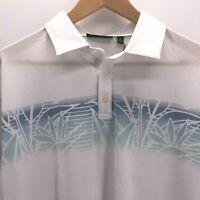 Devereux Golf Polo Shirt Size XL Blue White Short Sleeve Paradise