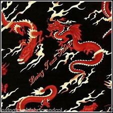 "FABRI-QUILT RED FIRE BREATHING ""HEADGEAR DRAGON"" #7879  FABRIC PRICED @ 1/2 YD"