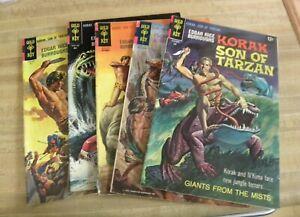 Gold Key Korak Son of Tarzan Comic Book Lot 8 9 11 23 44