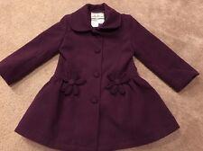 American Widgeon Plum Winter Dress Coat Jacket w/ Covered Buttons, Girls Sz 4