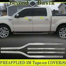 2004-2008 Ford F150 F-150 4Dr Crew Cab Chrome Window Sill Trims Covers Overlay