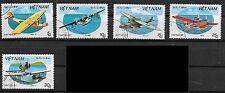 North Vietnam 1987 Seaplanes 1794-1796/1798-1799 CTO