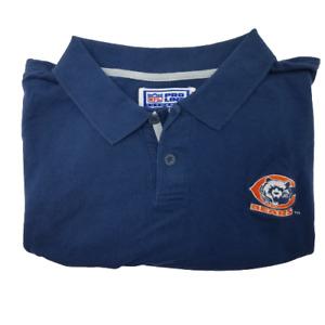 Vintage Starter Mens XL Chicago Bears Proline Polo Shirt Mack Urlacher Payton