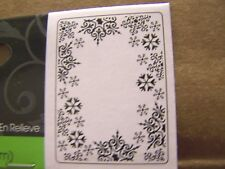 SNOWFLAKES FRAME DARICE EMBOSSING FOLDER WINTER CHRISTMAS ICE FROSTY