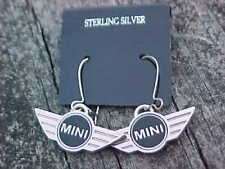 MINI COOPER WINGS STERLING SILVER EARRINGS MINT ON CARD