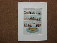 Tintin - The Seven Crystal Balls 1962 First Edition - To Peru - mounted page