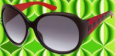 A148✪ Hippie Sonnenbrille 60er 70er Jahre rockabilly Retro schwarz rot kariert