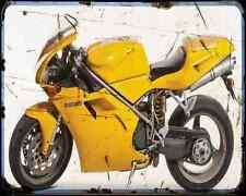 Ducati 916 Biposto 96 2 A4 Photo Print Motorbike Vintage Aged