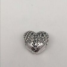 AUTHENTIC PANDORA ANGELIC FEATHERS HEART 791751 ANGEL WINGS CHARM