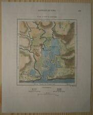 1891 Perron map GUANTANAMO BAY, CUBA (#153)