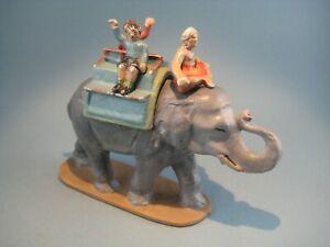 QUIRALU - CIRQUE ELEPHANT AVEC HOUDA - CORNAC ET 2 ENFANTS