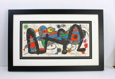 1974 Joan MIRO HIGH VALUE SIGNED Lithograph ESCULTOR PORTUGAL Gallery Framed COA