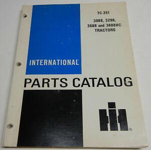 Farmall, International 3088, 3288, 3688, & 3688HC OEM Factory Parts Catalog