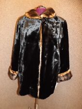 Eye Popping! NEW NWT Glossy Seal & Mink Faux Fur Coat Womens 2X Upscale Quality