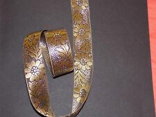 35 mm Or Argent Fleur jacquard brodé ruban dentelle Applique Trim