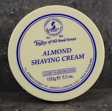Taylor of Old Bond Street Almond  Shaving Cream Bowl Foam 150g Pot