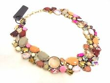 J CREW CRYSTAL FOLIAGE NECKLACE NWT #C4937 PINK 100% AUTHENTIC