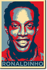 Ronaldinho art photo print (Obama Hope) Poster Cadeau