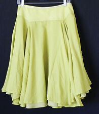 New marks&Spencer Limited Collection Skirt Fit-Flared Swing Lime Green Size M