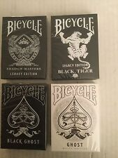 Bicycle - Legacy Edition - Black-White Ghost-Tiger Playing Cards (4-Deck Set)