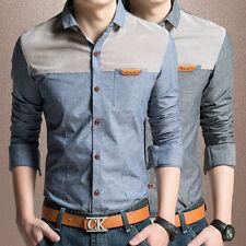 New Casual Dress Long-sleeve Men's Shirts Clothes Camisas Social Slim 6272 XS-XL